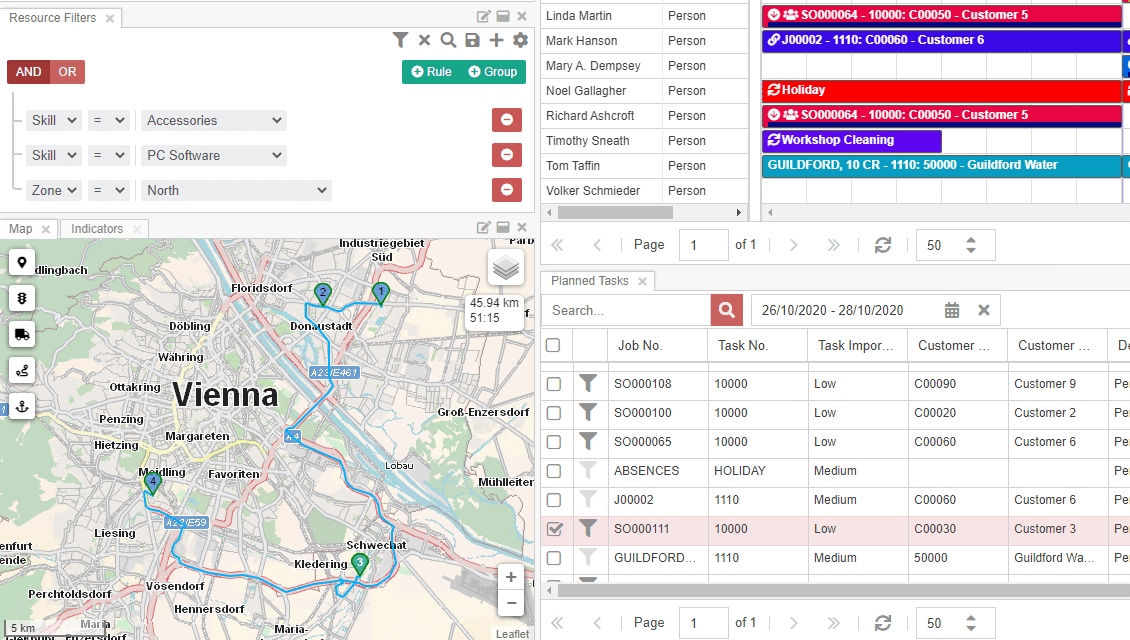 Planning board screenshot
